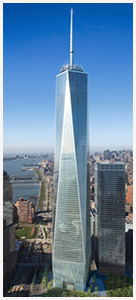 close up of the freedom tower