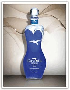 Blue Custom Tequila Bottle