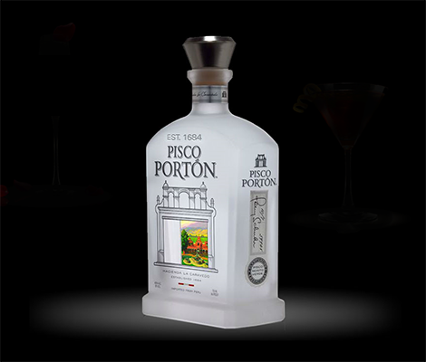 Decorated Custom Pisco Bottle with top
