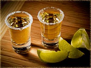 two shot glasses