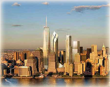 long view of the freedom tower