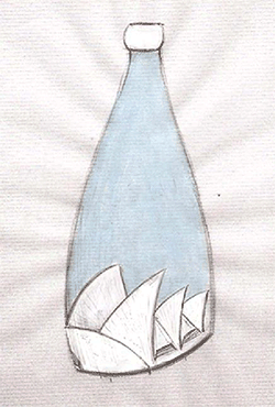Sketch of the Opera House Bottle