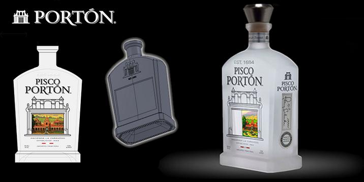 Pisco Custom Spirit Bottle