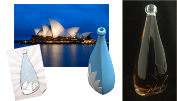 Sydney Opera House Style Bottle